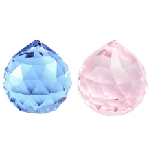 30mm Vintage Crystal Blue & Pink 2 PCS