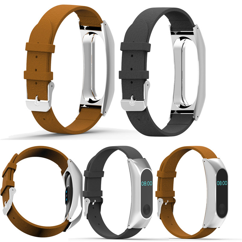 2017 New Arrivals Replacement Wristband Band Strap + Metal Case Cover For Xiaomi Mi Band 2 Bracelet Free Shipping NOM10
