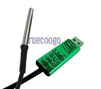 Temperatuursensor module  temperatuursensor  USB interface  DS18B20 waterdichte probe  temperatuur sensing
