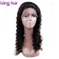 Bling Hair Lace Frontal 100 Human Hair Wigs For Black Women Deep Wave Peruvian Hair Wigs