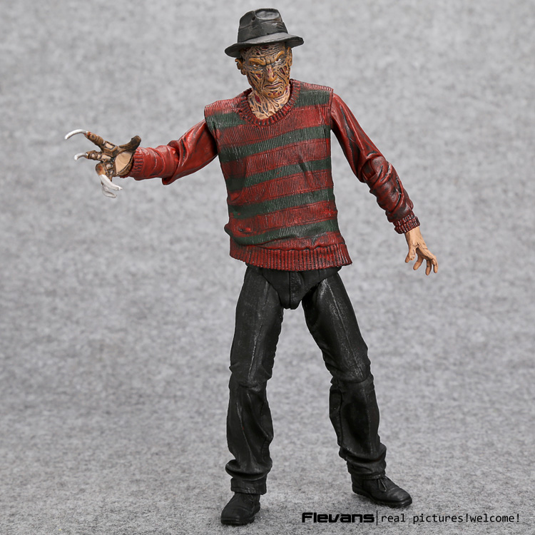 NECA A Nightmare on Elm Street Freddy Krueger 30th PVC Action Figure Collectible Toy 7 18cm hot freddy classic horror film nightmare on elm street 30th anniversary ultimate neca 18cm action figure new box