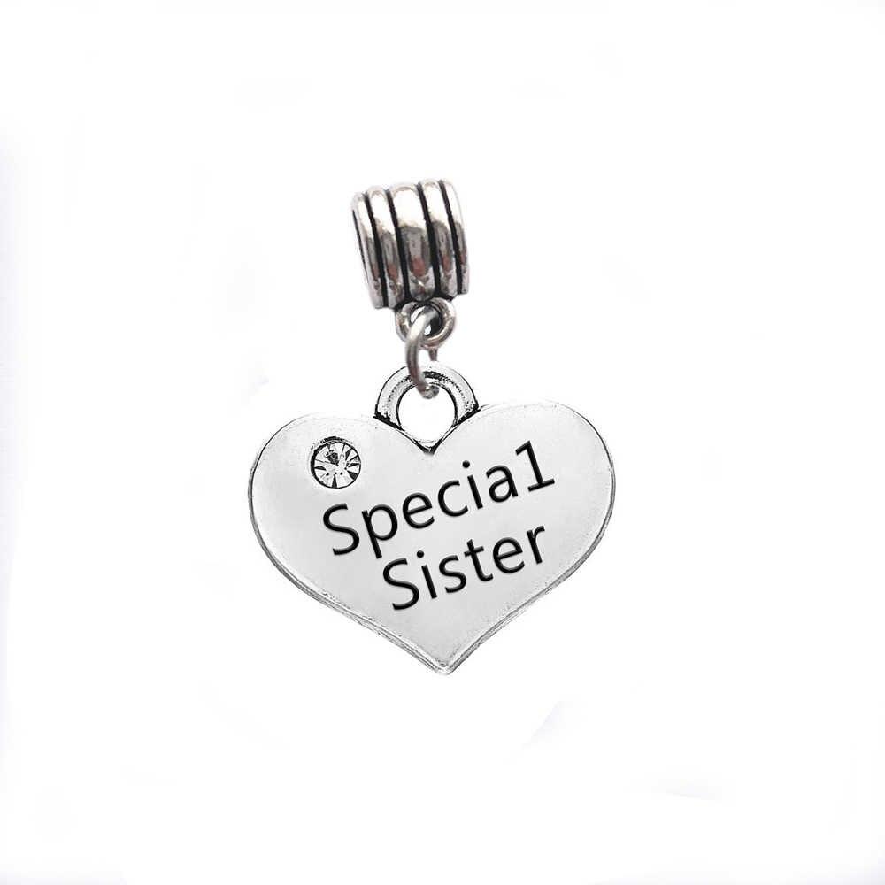 Skyrim rodzina serce Charms koraliki z czysty kryształ Fit bransoletki Making DIY wisiorek grawerowane dziecka dziewczyna/najlepszy przyjaciel/ tata