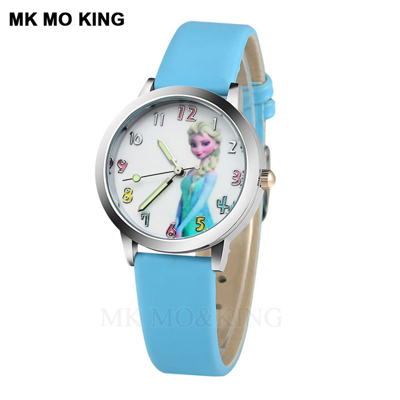 Quartz Children's Watch  Cartoon Little Princess Girl Favorite Clock Leather Luminous Boy  Watch Child Birthday Gift Relogio