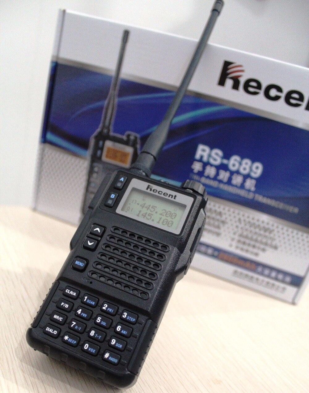 Potente 10 W rs689 VHF UHF Tri banda jamón portátil Radios s transceptor práctico dos vías Radios Walkie-talkies pantalla dual doble Modo de espera