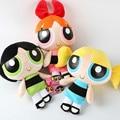 3pcs/lot 23cm The Powerpuff Girls Plush Doll Bubbles Blossom Buttercup Stuffed Toys Children Toys & Gift Christmas Gift