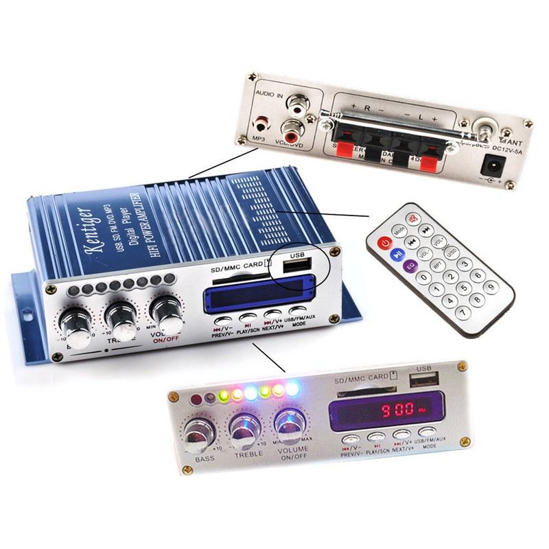20W 12V 2CH Power Mini Hi-Fi Audio Stereo Amplifier AMP for ipod Car Home MP3 FM Useful