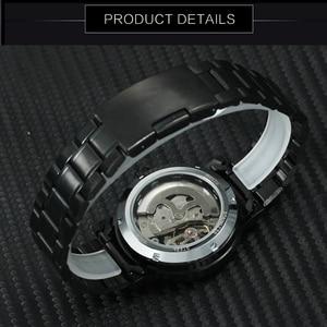 Image 3 - 수상작 공식 캐주얼 시계 남성 해골 기계식 시계 스틸 스트랩 로마 숫자 비즈니스 최고 브랜드 럭셔리 남성용 손목 시계