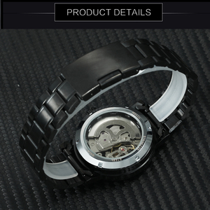 Image 3 - GEWINNER Offizielle Casual Uhren Männer Skeleton Mechanische Uhr Stahl Bügel Römischen Anzahl Business Top Marke Luxus Männer der Armbanduhr