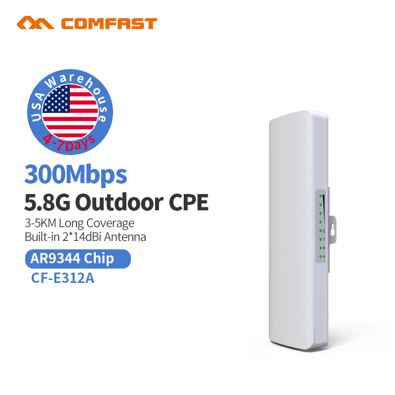 3KM WISP Long Range Outdoor CPE WIFI Router 5.8GHz Wireless AP WIFI Repeater Access Point WIFI Extender Bridge Client Router 3km long range outdoor cpe wifi router 5 8ghz 300mbps wireless access point ap wifi repeater wifi extender bridge client router