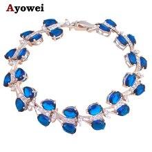 jewelry for women Bohemia style Luxury Bracelets Silver filled Deep Blue Zircon item Zircon fashion jewelry TB789A