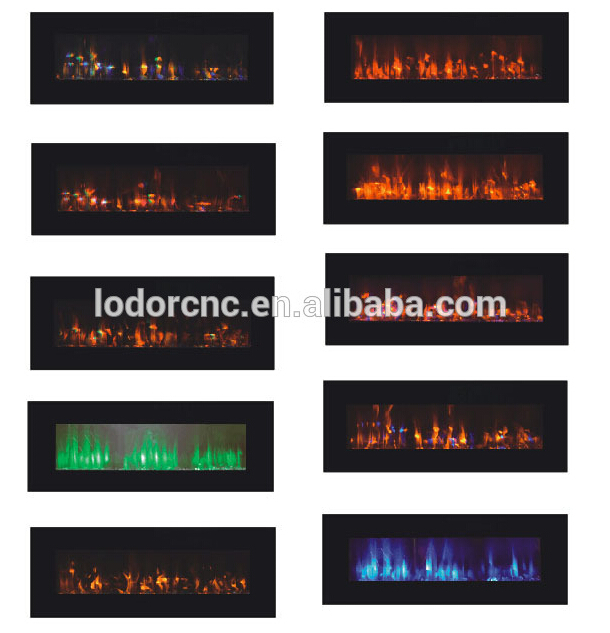 Decor Flame Electric Fireplace Wall Mounted In Fireplaces