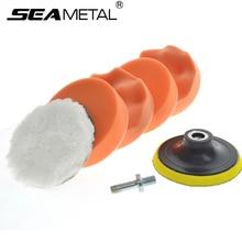Car Polishing Wash Brush Set Sponge Waxing Washing Cosmetic Buffing Pads Kit Felt Compound Universal Supplies