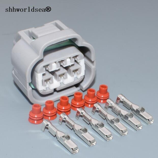 Shhworldsea prise de connecteur électrique pour voiture | Pédale d'accélérateur féminine à 6 broches, pour Toyota Lexus 7283-7064-40 90980-10988