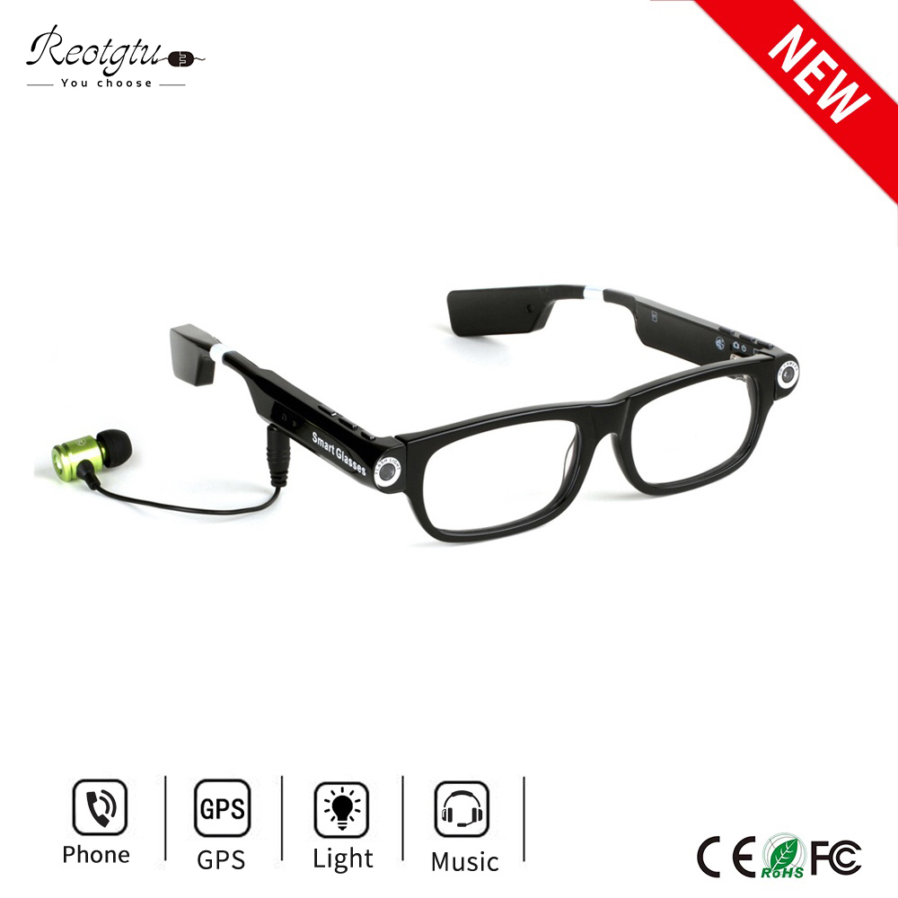 61c81b121c7 Wireless Bluetooth Camera Glasses HD 1080P Sports DV Smart Sunglasses Mini  Camcorders Glasses With Headset To