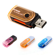 USB 2.0 Micro-Card Reader All in one Multi Memory Card Reader for Micro SD/TF M2 MMC SDHC MS