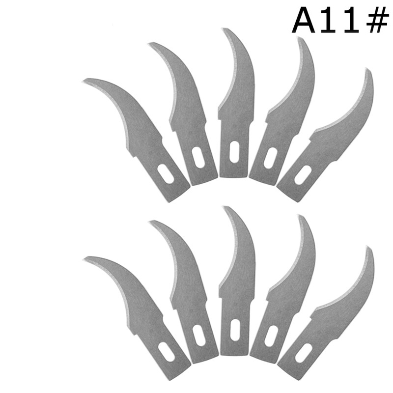 A11# 10Pieces/lot Blades Scalpel Cutting Tool Wood Carving Tools Engraving Craft Sculpture Knife