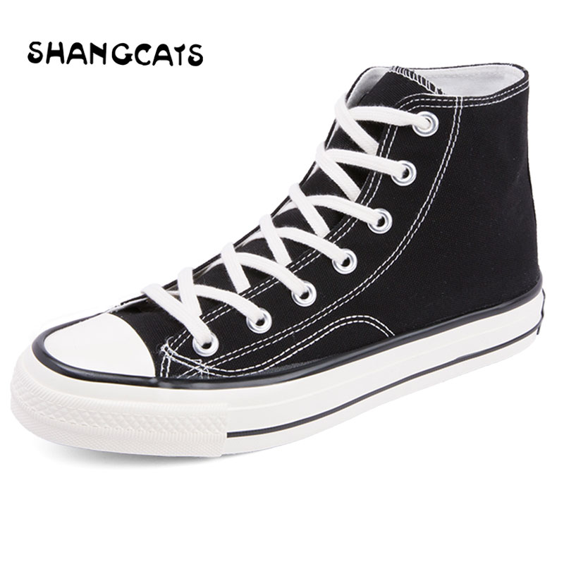 Vulcanize Shoes Men High Top Canvas Shoes For Women Men Couple Breathable Lace Up Sneakers Yellow Flats tenis masculino adulto men women s converse all star shoes high top lace up flats design five food recipes on white canvas sneakers gifts