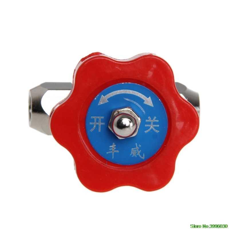 Tahan Lama Tabung Nikel Berlapis Kuningan Plug Katup Jarum OD 6 Mm/8 Mm/10 Mm