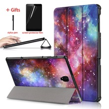 купить PU Leather Cover Case For Samsung Galaxy Tab S4 10.5 SM-T830 T835 T837 Tablet Stand Smart Cover For Samsung Galaxy Tab S4 Case дешево
