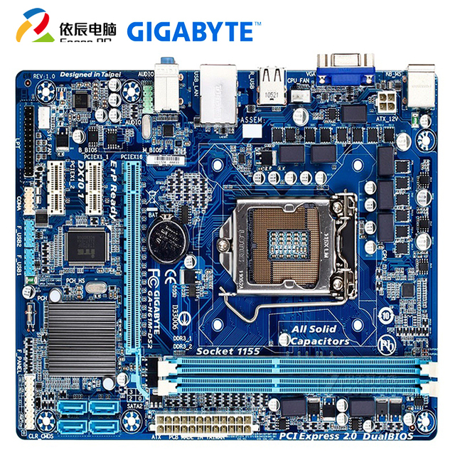 GIGABYTE H61M DS2 Desktop Board USB 2.0 Intel i3i5i7 DDR3 2*16G SATA 2.0