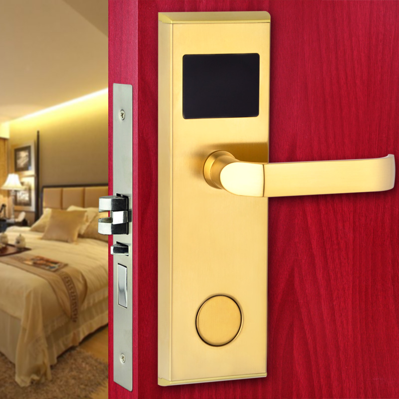 Smart Design RFID Card Digital Door Lock Intelligent Hotel Lock сумка мужская malgrado цвет черный br09 271