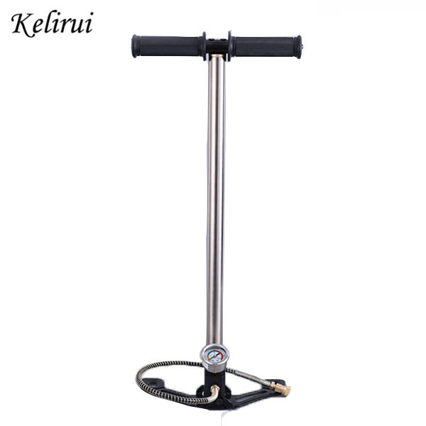High Pressure Mini Hand Operated Air Pump 3 Stage PCP Car Hunting PCP pump foldable 300bar 30mpa 4500psi bull pre charged high pressure hand pump pcp 30mpa with valve gauge