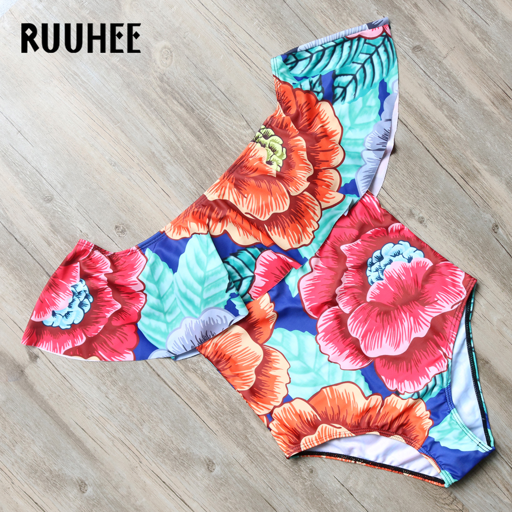 RUUHEE Swimwear Women Sexy Folral One Piece Swimsuit Bodysuit Brand Bathing Suit Swimming Suit Monokini Maillot De Bain 2017 2017 new sexy one piece swimsuit strappy biquini high waist one piece swimwear women bodysuit plus size bathing suits monokinis