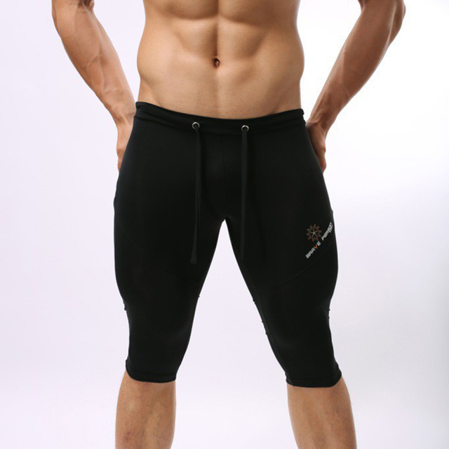 [Brave person] Homens marca de Moda Suave Sete Minutos De Calças De Cintura Baixa Calças Apertadas Calças De Fitness Mens Movimento BP00502221