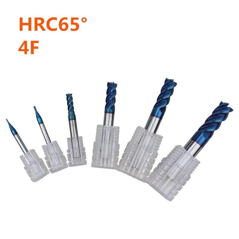 Aço inoxidável slot de fresa de aço de tungstênio importado 4 HRC65 especial carboneto de fresa fresa CNC cortador de fundo plano longo