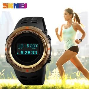 Image 2 - SKMEI Men Sport Watch Pedometer Calorie Digital Watches Top Male Clock Compass Thermometer Wrist Watch Man Relogio masculino1360