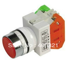 1N/O+1N/C Maintained Flush Push button Switches self-locking Y090-11BNZS/LAY37-11BNZS Mounting Hole 22mm