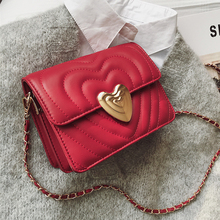 ETAILL Heart Shape Lock Flap Quilted Crossbody Bag with Golden Chain Famous Luxury Brands Pu Leather Plaid for Women 2019
