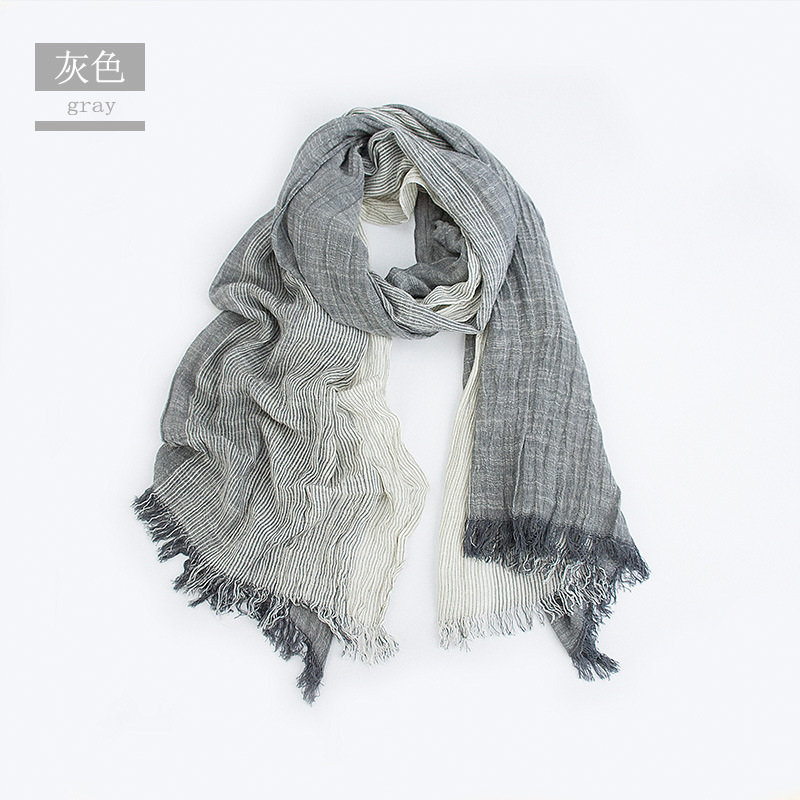 a54799469 Unisex Men Women Ombre Shawl Spring Summer Cotton Blend Gradient Scarves  Hijab Casual Male Scarves Crinkle Global Scarf YG367-in Men's Scarves from  Apparel ...