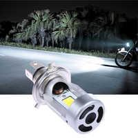 Durevole 1pcs H4 20W 2000LM COB LED Hi/Lo Fascio Moto Faro Anteriore Luce di Lampadina In Acciaio Inox moto Bianco Testa Della Lampada