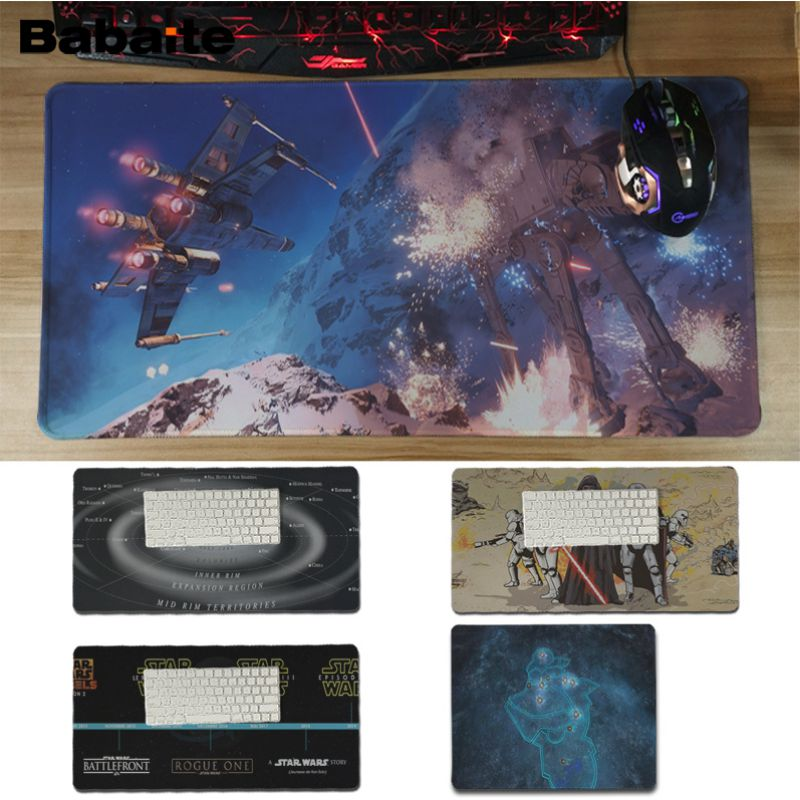 Babaite Top Quality Star Wars map Large Mouse pad PC Computer mat Unique Desktop Pad Game Lockedge Large Mousepad For CS image