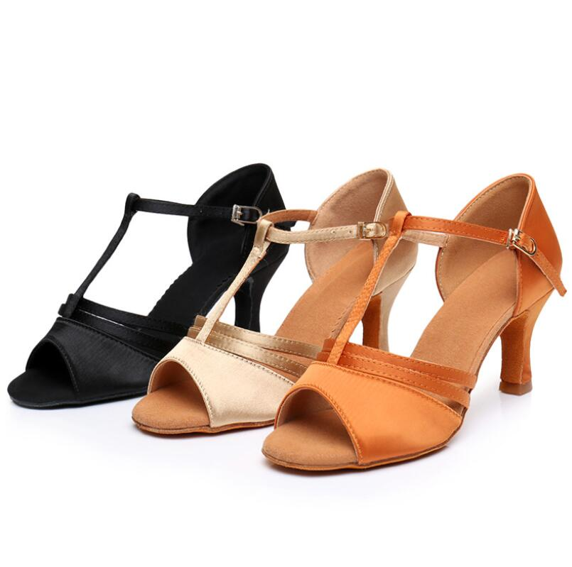 Salsa Dance Shoes Woman Latin Dance Shoes Ladies Girls Sneaker Dancing Shoes For Women Jazz Ballroom 3 Colors Heel 5cm/7cm A108
