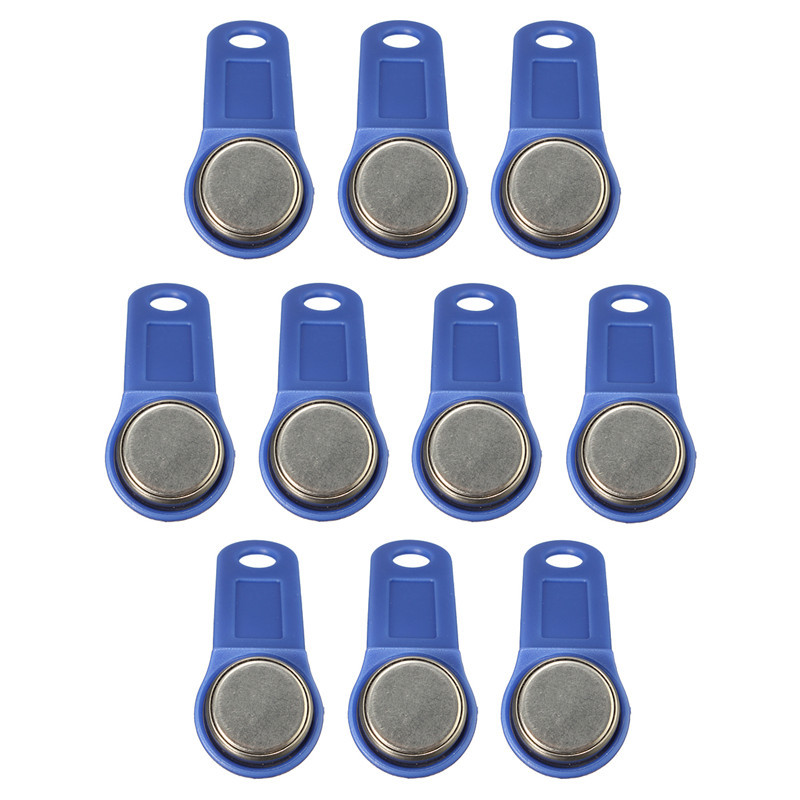 10pcs/lot rewritable RFID Touch Memory Key RW1990 iButton Copy Card Sauna Key