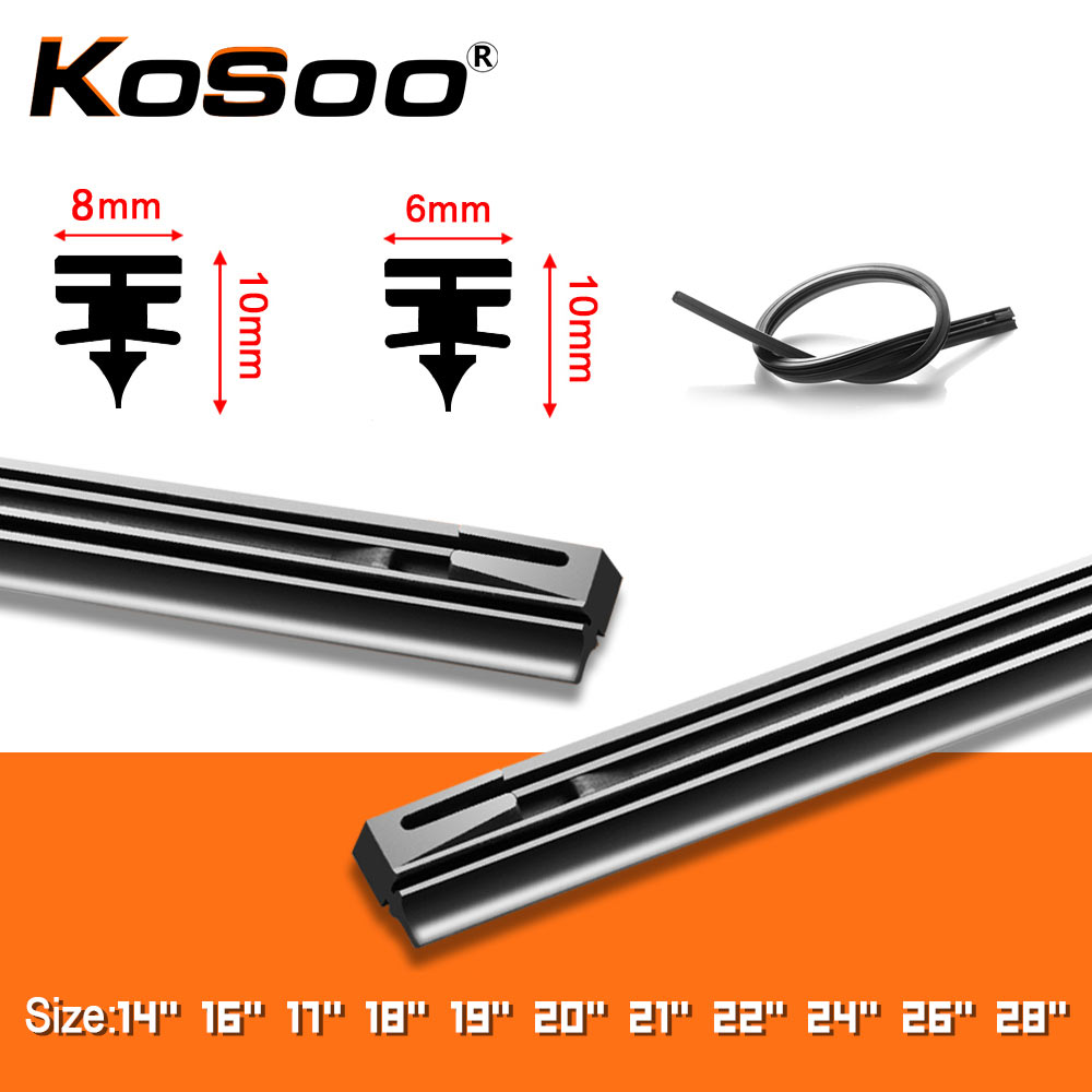 KOSOO 1PCS Windshield Windscreen 8MM 6MM 14
