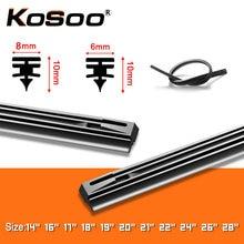 1PCS Windshield Windscreen 8MM 6MM 1416171819202122242628 Car Wiper Blade Replacement Insert Refill Rubber Strip