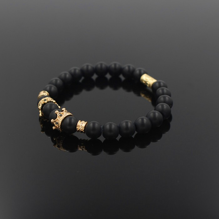 gold-imperial-crown-with-natural-stone-black-bracelet-2