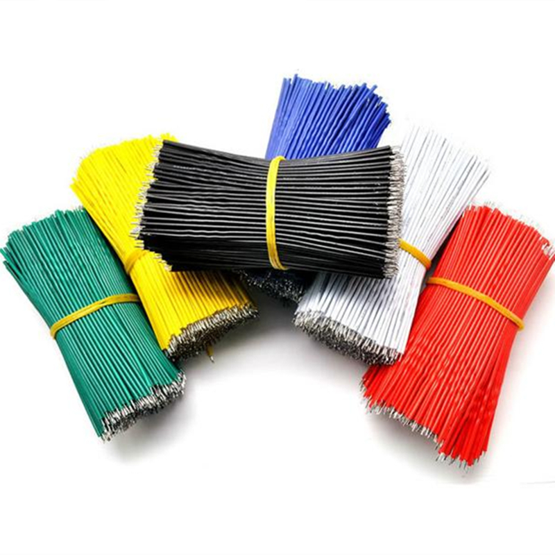 100pcs/Lot Tin-Plated Breadboard Jumper Cable Wire 10cm 24AWG For Arduino 5 Colors Flexible Two Ends PVC Wire Electronic 100pcs lot tin plated breadboard pcb solder cable 24awg 5cm fly jumper wire cable tin conductor wires 1007 24awg connector wire