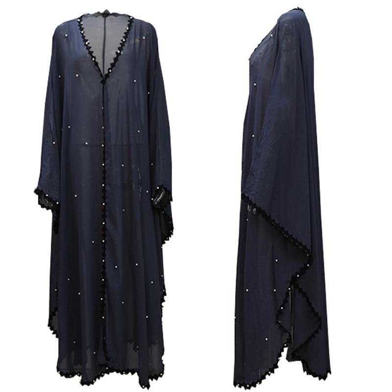 2019 Mesh Kaftan Abaya Dubai Turkish Islamic Muslim Hijab Dress Abayas For Women Caftan Elbise Jilbab Robe Ramadan Clothing