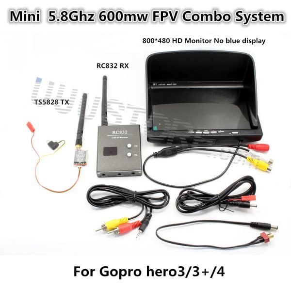 Fpv Combo System 5 8ghz 600mw 5km Transmitter And Receiver