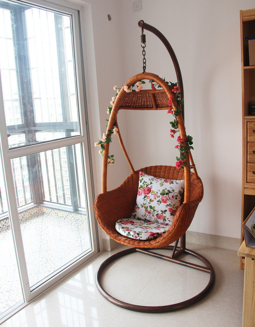 Outdoor wicker chair swing rattan basket rattan indoor rattan ...
