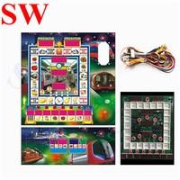 1 conjunto de máquina de jogo de frutas mario placa de jogo com fio acrílico arnês mario slot máquina metro placa pcb