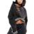 2017 harajuku lace up hoodies das camisolas das mulheres padrão carta impressão curto Pullover Primavera moda preto com capuz tops de Grandes Dimensões