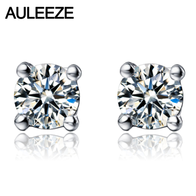Diamond Wedding Earrings 9k Solid White Gold Earring 1cttw Simulated Stud For Women Valentine S
