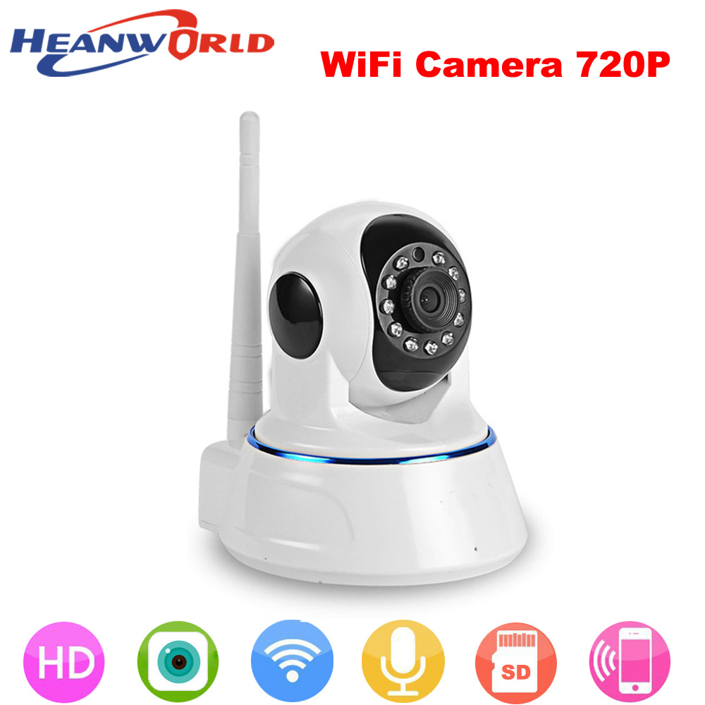 Heanworld HD 720P IP Camera Wifi P2P Security Camera Wireless Night Vision Audio Pan/Tilt SD Card Surveillance Network Webcam jcwhcam pan tilt wireless ip camera wifi 720p hd cctv camera home p2p security surveillance two way audio 64gb sd card