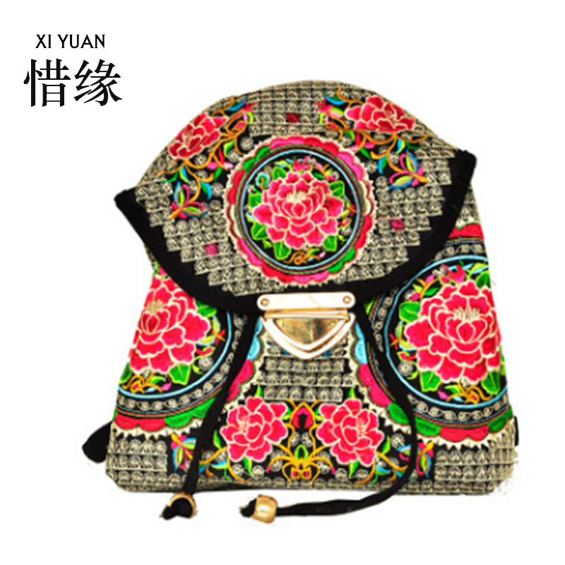 XIYUAN BRAND 2016 New National bags trend embroidery bags Women flower embroidered messenger bags teenage girls
