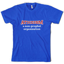Atheism A Non Prophet Organisation - Mens T-Shirt Atheist Joke Funny Print T Shirt Short Sleeve Hot